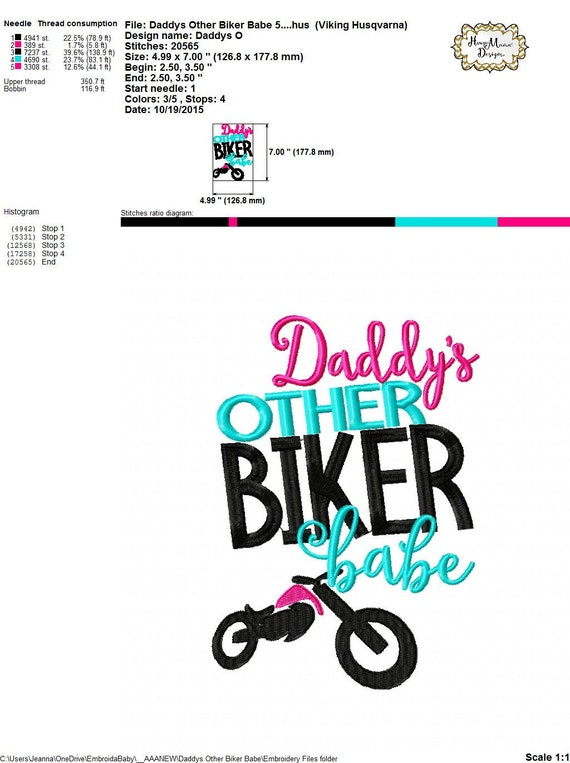 Daddy 39 s other biker babe 4x4 5x7 6x10 7x11 8x8 machine for 7x11 bathroom layouts