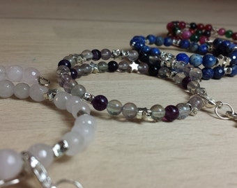 Bracelet stones semi precious and golden metal, 4 models to choose from.