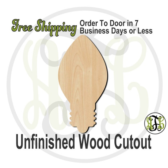 "Light Bulb- 2"" to 6"" Minis- 180034- Small Wood Cutout, unfinished, wood cutout, wood craft, laser cut, wood cut out, ornament"