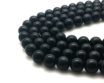 4mm Natural Black Obsidian Beads Round 4mm Black Obsidian 4mm Black Gemstone 4mm Black Stone 4mm Beads Gemstone Black