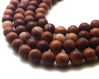 8mm Natural Wood Lace Stone Beads Red Round 8mm Wood Lace Stone 8mm Wood Beads 8mm Beads 8mm Wood Stone 8mm Red Beads 8mm