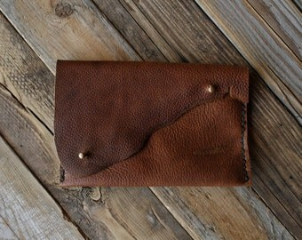 The Fawn Clutch No.3, leather clutch, minimalist clutch minimalist clutch, small purse, card holder makeup bag raw edge