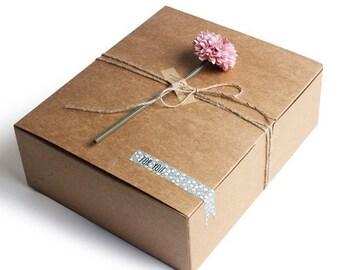 5 x Kraft Boxes / Simple Kraft gift box - Large Size