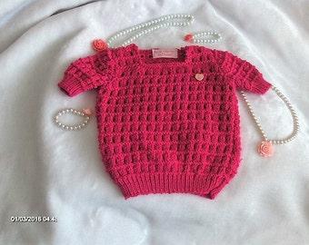 Girls knitted summer jumper