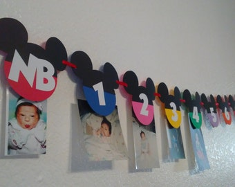 Mickey Mouse Clubhouse photo banner, Mickey Mouse Decoration, Mickey Mouse Party Decorations, Mickey Mouse Birthday Banner