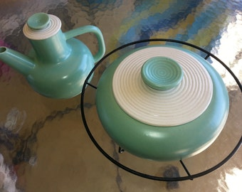 Mid-Century A.C. Davey California Pottery Pitcher and Covered Dish Set