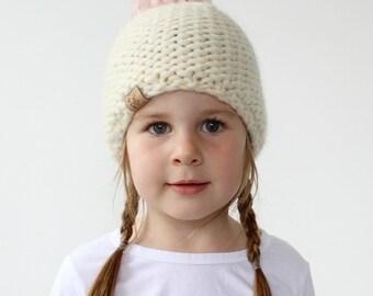 Chunky Knit Hat Pattern - PDF Knitting Pattern, Super Bulky/chunky Pom Pom Beanie, Baby, Toddler, Child & Adult (womens) Sizes