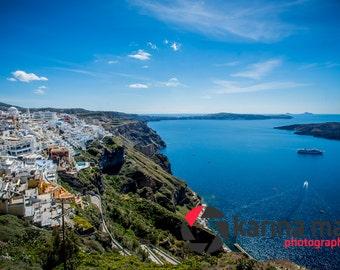 Beautiful Santorini, Greek Island, Greece, Fira, Landscape, Travel, Photograph, Print, Wall Art