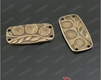 50pcs 38x20mm Antique Bronze Owl Pendant Handmade Jewelry Accessories M22632