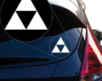 Zelda Triforce Vinyl Decal Sticker # 922