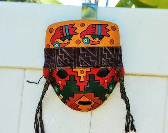 Inca Warrior Ceramic Mask