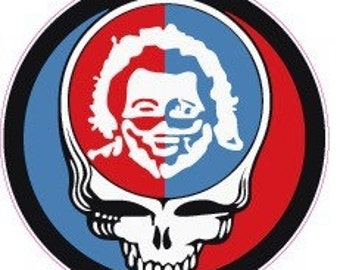Decal - Grateful Dead Steal Your Face Jerry Garcia decal