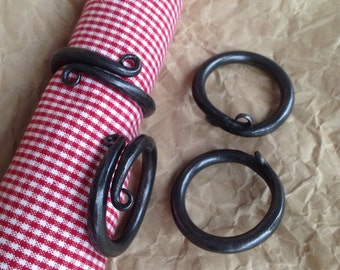Steel napkin rings. Hand forged  table decor for weddings and other parties.