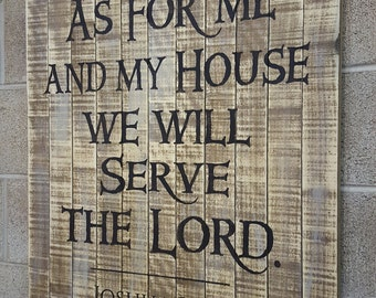 As For Me And My House Wall Art as for me and my house we will serve the lord printable hand