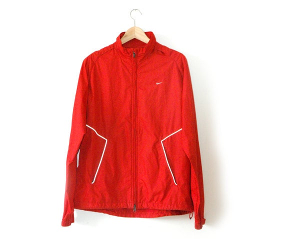 Nike Red Athletic technical jacket