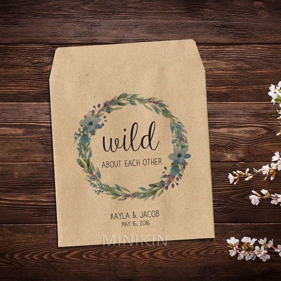 Wedding Seed Packets Seed Packet Favor Rustic By MinikinGifts