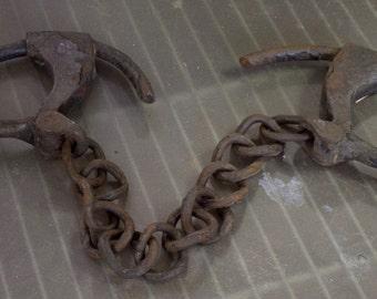 Antique Cast Iron Handcuffs