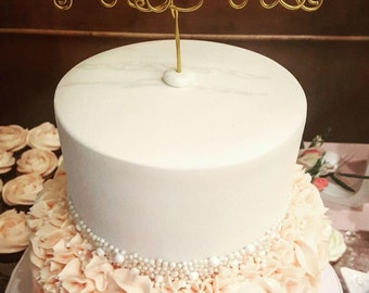 Mr & Mrs Wire Cake Topper