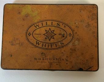 Wills whiffs tin