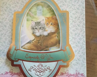 Homemade especially for you card with kittens
