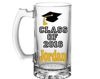 Graduation Beer Mug-Graduation Gift-Graduation Mug-Gifts For Graduation-College Graduation