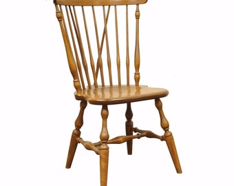 Single Vintage Solid Maple Ethan Allen Baumritter Windsor Dining Side Chair A