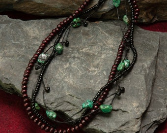Jewelry for Bema Black and Turquoise Necklace