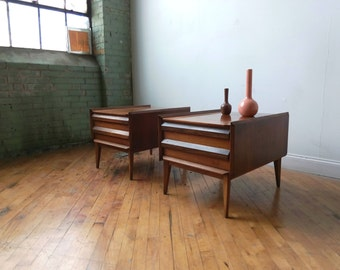 Pair of MCM Lane End Tables