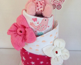 Topsy Turvy three tier nappy cake