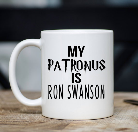 My PATRONUS is a RON SWANSON | Harry Potter + Parks & Rec Mug | Message Mugs | 11 oz.