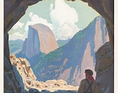 Yosemite Valley as Seen Through the Wawona Tunnel Portal - Standard Oil Magazine Cover [reproduction on Styrene]