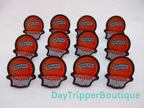 24 san antonio spurs basketball cupcake ring favor supplies
