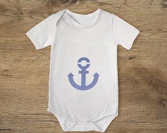 Navy anchor cotton Bodysuit