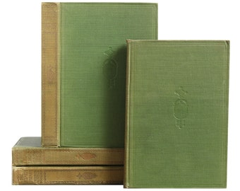 Pocket-Sized Green Bookstack, S/4