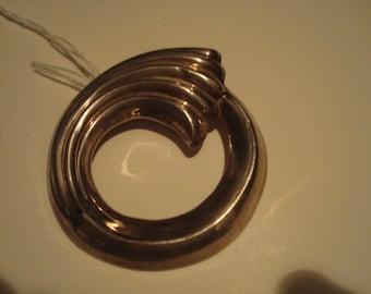 Vintage sterling modernist/art deco wave pin/pendant