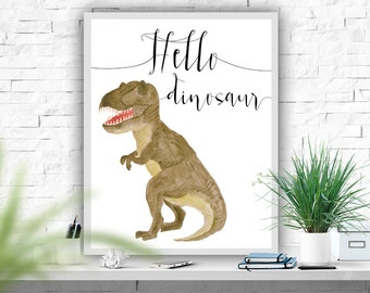 Dinosaur Printable Art Print Nursery Print Dinosaur Printable Watercolor Dinosaur Boys Room Decor Dino Print Dinosaur Poster