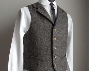 Gentlemen's Chocolate Fleck Tweed Waistcoat