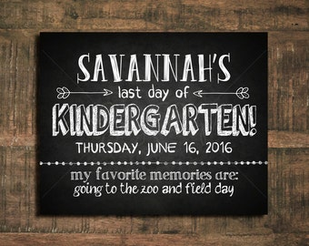 Last Day of School Sign // Printable Download
