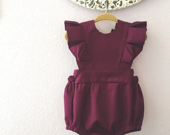 Solid Colored Fall Rompers