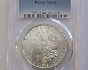 1878-S Morgan Silver Dollar Certified MS63 By PCGS