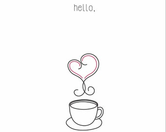 The Hello Coffee Card Set (Ivory)