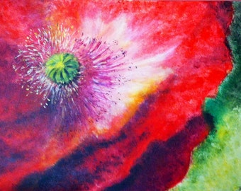 Table flowers acrylic/poppies/poppies/arts/france/flowers/red