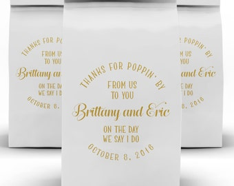 Popcorn Favor Bags, Wedding Favor, Dessert Bar, Candy Buffet, Dessert Buffet, Treat Bag, Love is Sweet, Candy Bar, Popcorn Bag, Coffee Bag