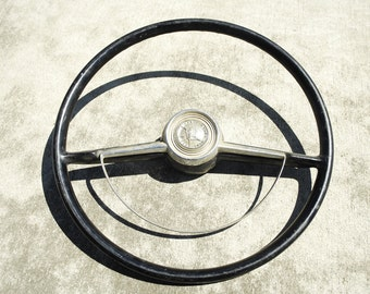 rat rod 1953 ford 50th anniversary steering wheel (as found)