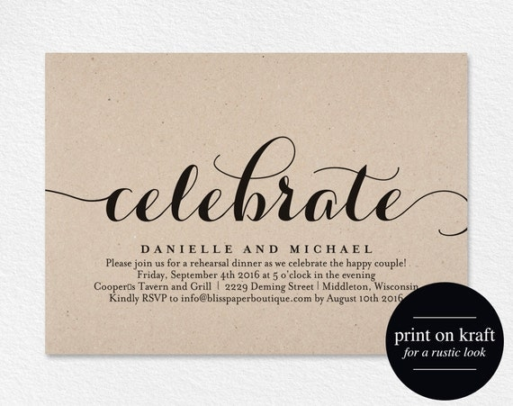 Who Is Invited To The Wedding Rehearsal Dinner: Celebrate Party Invitation Wedding Rehearsal Invitation
