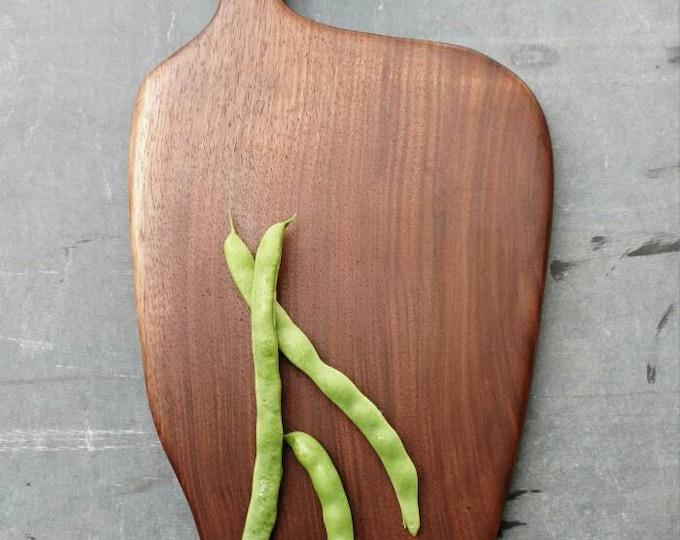 Walnut cutting board/bread board/cheese board/serving board unique, farmhouse style