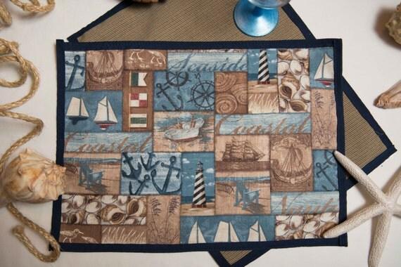 Indoor / Outdoor Handmade Marine Scene Placemat Set