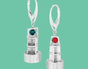 Sterling Silver Port/Starboard Earrings