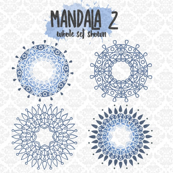 Mandala Intricate Henna Tattoo Circle Monogram SVG DXF Ai EPS Scalable Vector Instant Download Commercial Use Cutting File Cricut Silhouette
