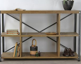 KONK! 'Box' Oak Bookcase shelving INDUSTRIAL [Bespoke sizes!] Rustic Vintage Reclaimed
